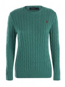 Zelený prémiový svetr s ornamentem od Ralph Lauren Size: XS