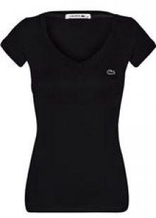 Černé elegantní tričko od Lacoste Velikost: XS