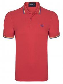 Červeno-modrá polokošile z prémiové bavlny od Fred Perry Size: S