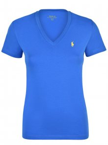 Světle modro-žluté prémiové tričko od Ralph Lauren Velikost: S