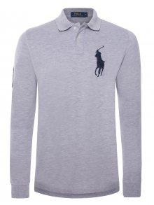 Šedo-modrá polokošile Big Pony s dlouhým rukávem od Ralph Lauren Size: S