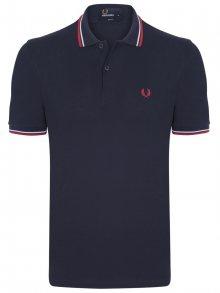 Modro-červená polokošile z prémiové bavlny od Fred Perry Size: S