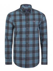 Zelenošedá košile z prémiové Norské bavlny od Gant Size: S