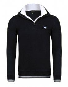 Černý luxusní svetr na zip od Emporio Armani Velikost: S