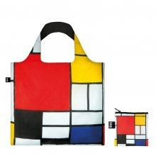 LOQI - Piet Mondrian Composition Red, Yellow, Blue & Black, 1921 Bag šedé PM.CO