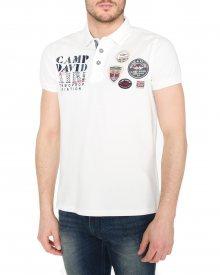 Polo triko Camp David | Bílá | Pánské | L