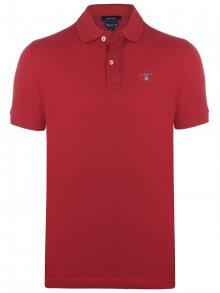 Červená elegantní polokošile od Gant Velikost: S