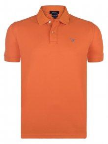 Oranžová elegantní polokošile od Gant Velikost: S