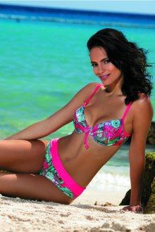 Dvoudílné plavky Feba F01B - barva:FEB450/růžová/potisk  , velikost:70/36D