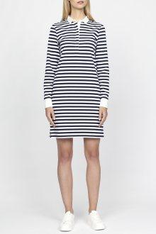 Šaty GANT O1. STRIPED HEAVY RUGGER DRESS