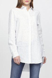 Košile GANT O2. STRIPED LONG LINEN SHIRT