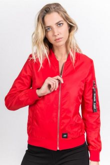 Bomber Flowers Embroideries Red M