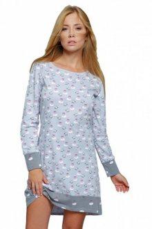 Sensis Lovely Noční košile S šedo-bílá