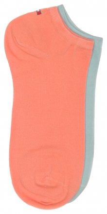 Ponožky 2 páry Tommy Hilfiger | Modrá Oranžová | Dámské | 35-38