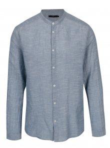 Modrá košile s drobným vzorem SUIT