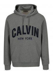 Šedá pánská mikina s kapucí Calvin Klein Jeans Hikos