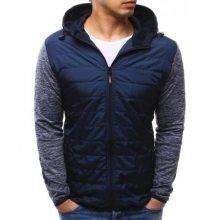 Pánská bunda s kapucí tmavě modrá