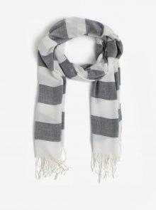 Tmavě modrý pruhovaný dámský šátek GANT