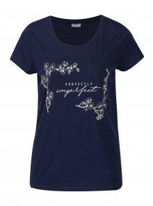 Modré volné tričko s potiskem Jacqueline de Yong New Sky