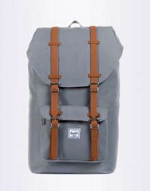 Herschel Supply Little America Grey/Tan Synthetic Leather 25l