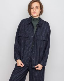 Native Youth Isobar Navy Pinstripe L