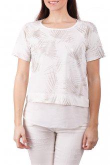Deha bílé tričko se stříbrnými motivy - XS