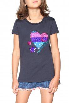 Desigual tmavě modré dívčí tričko Katrina