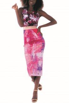 Culito from Spain růžové dlouhé šaty Romantica - L