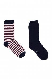 Ponožky GANT 01. 2 PACK SOLID AND BARSTRIPE SOCK