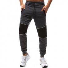 Pánské kalhoty teplákové antracit