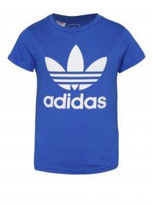 Modré klučičí tričko s potiskem adidas Originals