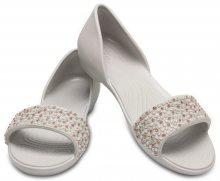 Crocs šedé sandály Lina Embellished Dorsay Pearl White/Rose Gold - W6