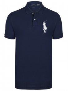 Tmavě modro-bílá polokošile Big Pony od Ralph Lauren Size: S