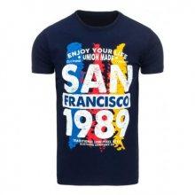 Pánské tričko s potiskem tmavě modré