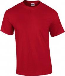 Tričko Gildan Ultra - Sytě červená M