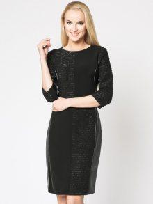 Margo Collecttion Dámské šaty DRESS BLACK\n\n