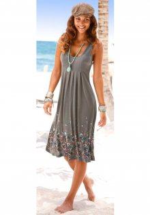 BEACHTIME Plážové šaty Beachtime hnědošedá 34