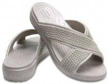 Crocs šedé pantofle Sloane Embellished XSTRAP Platinum