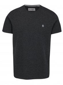 Tmavě šedé žíhané tričko Original Penguin Pin Point