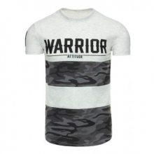 Pánské tričko s potiskem šedé