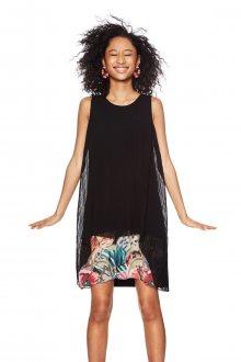 Desigual černé plizované šaty Miriam