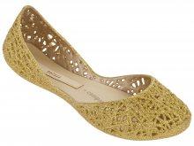 Boty Melissa Campana Zig Zag Gold Glitter