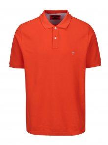 Oranžové polo tričko s krátkým rukávem Fynch-Hatton