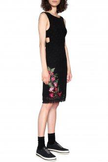 Desigual černé krajkované šaty Julia - 36