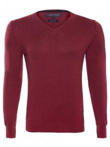 Červený luxusní svetr od Tommy Hilfiger Size: M