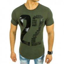 Pánské tričko s potiskem zelené