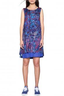 Desigual modro-fialové šaty Eric - XS
