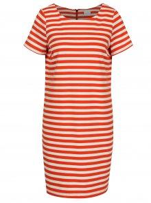 Krémovo-červené šaty s krátkým rukávem VILA Tinny