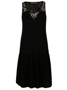 Černé šaty s krajkou na zádech Cars Louisia