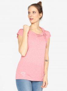 Růžové tričko s krátkým rukávem Ragwear Lorna